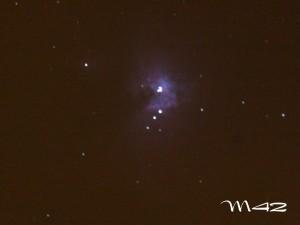 Mgławica M42 wOrionie